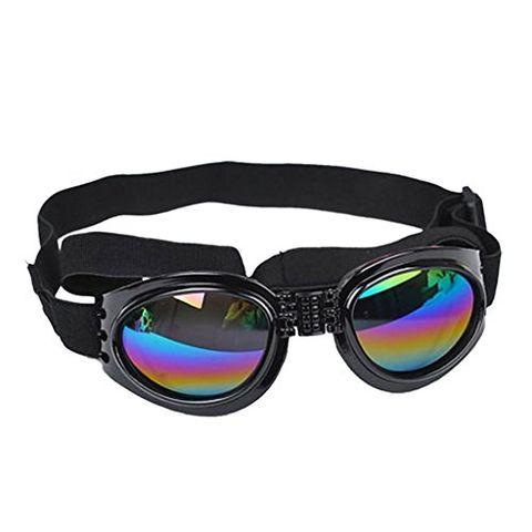 Adjustable Pet Dog UV Sunglasses Sun Glasses Glasses Goggles Eye Wear Protection Fashion (Black)