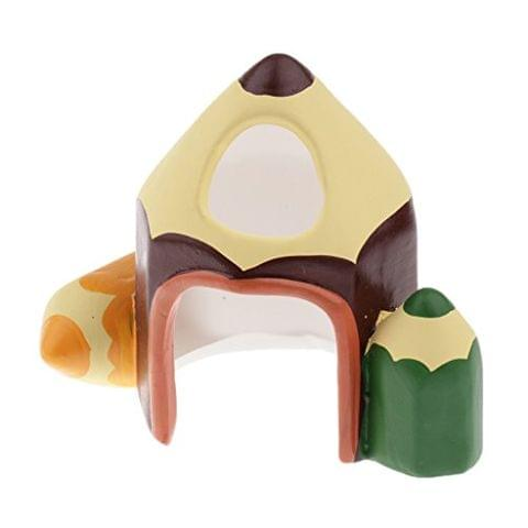Hamsters House Large Size Pencil Model Hideout Snuggle Hut, Small Animal Home Cage for Small Pets Syrian Hamster Guinea Pig Mice Rat