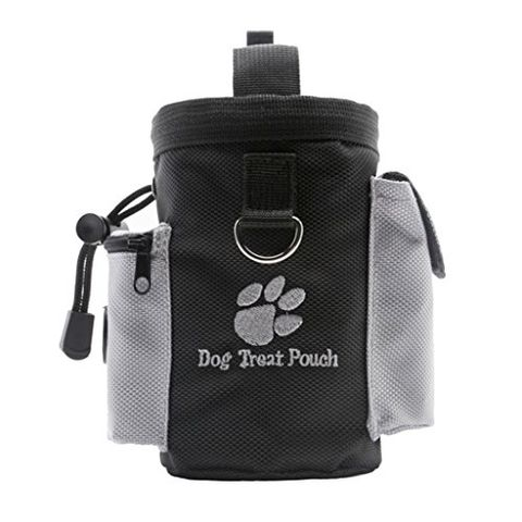 Dog Puppy Pet Travel Training Walking Treat Bag Feed Bait Food Pouch with Poop Bags Dispenser Holder and Clip