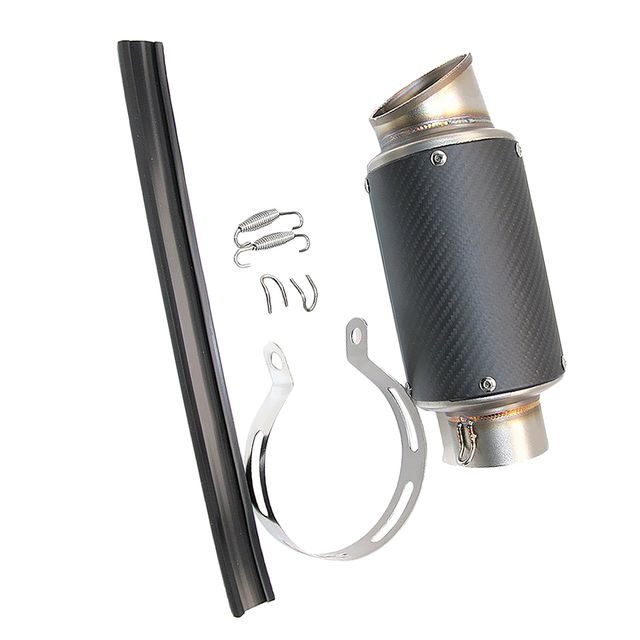 60mm Matte Motorcycle Scooter Exhaust Muffler Tail Pipe End Silencer