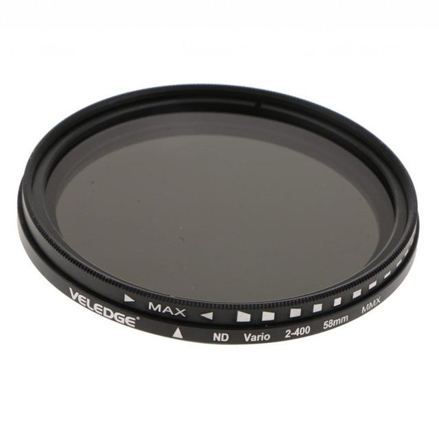58mm Ultra Slim ND2-ND400 Fader Variable Neutral Density Color Conversion ND Lens Filter Optical Glass for Camera