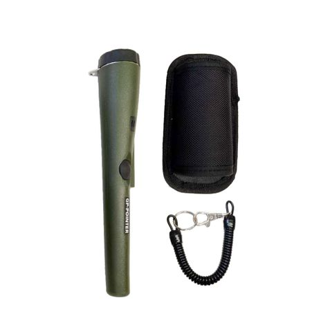 Professional Metal Detector portable + Holster Treasure Hunting Unearthing Tool Buzzer Vibration Automatic Tuning Green
