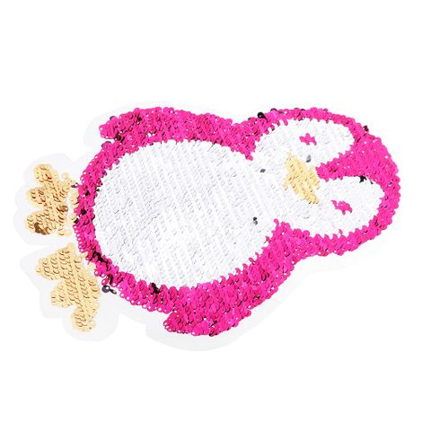 Penguin Reversible Change Color Sequin Sewing on Patches Clothes DIY Embroidered Motif Applique Craft for Jeans, T-shirts