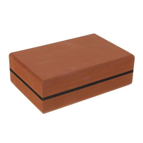 Lightweight Long-Lasting Waterproof Anti-Slip Yoga Block Pilates Brick Home Stretch Gym Fitness Exercise Tool Brown