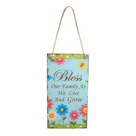 Vintage Bless Wooden Floral Decor Easter Door Wall Hanger Home Party Directional Sign