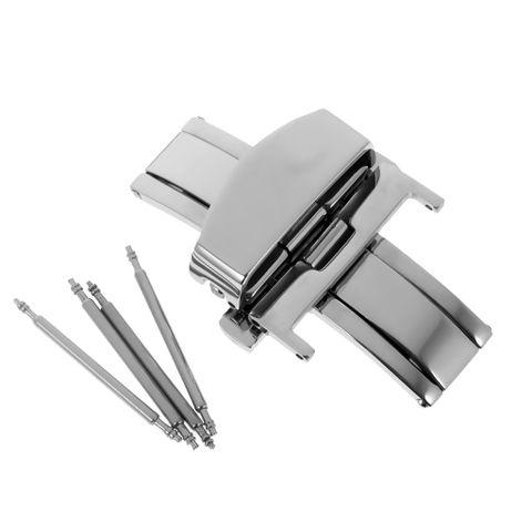 Stainless Steel Flip Lock Butterfly Deployment Clasp Watch Buckle 20mm