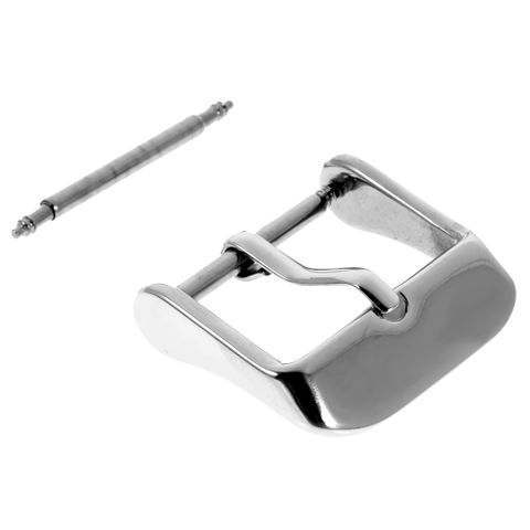 Watch Replacement Polished Stainless Steel Buckle Pin Fits 18mm Band End