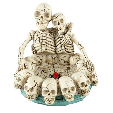 Human Skull Ashtray Ash Container Replica Creative Gift Decor #7