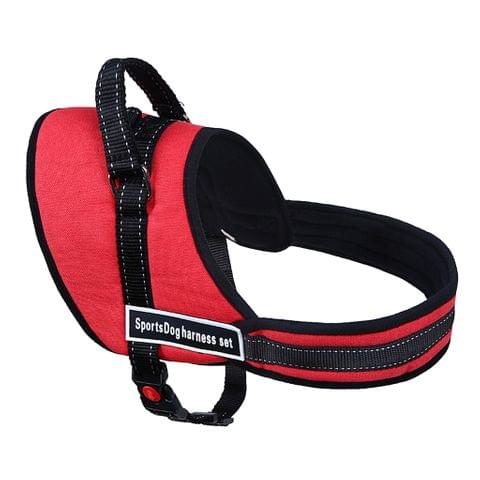 Soft Breathable Adjustable High Strength D-Ring Dog Harness Safety Equipment Pet Supplies Red XL