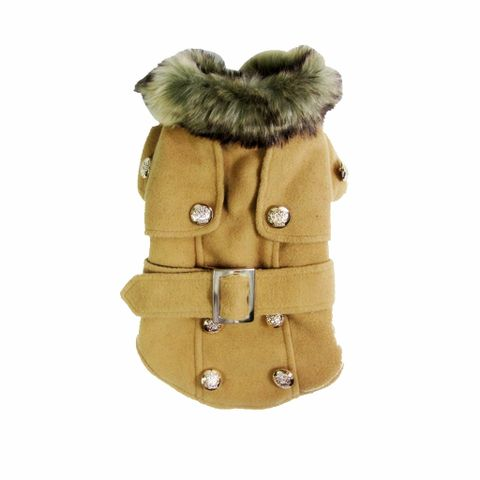 Puppy Pet Dog Cat Winter Thick Warm Winter Coat Jacket Clothes Apricot XL
