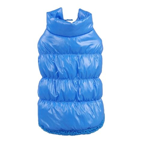 Pet Dog Puppy Cat Clothing Supplies Winter Warm Padded Coat Down Jacket Vest Apparel Outfit Blue M