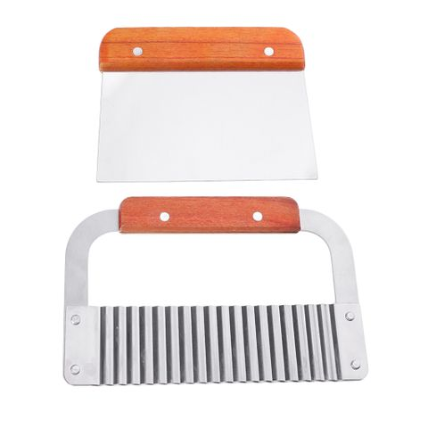 2 Pieces Straight Wavy Wax Vegetable Dough Soap Cutter Loaf Cake Potato Slicer Cutter Cutting Tool