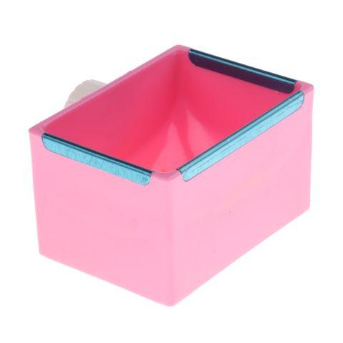 Pet Feeding Bowl Cross Fixed Design Plastic Boxes for Hamsters Rabbit Guinea Pig