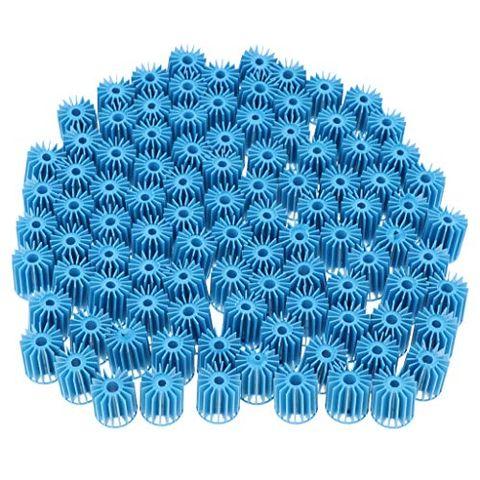 100pcs Auqarium Biochemical Balls Fish Pond Filter Fish Tank Filtration Blue