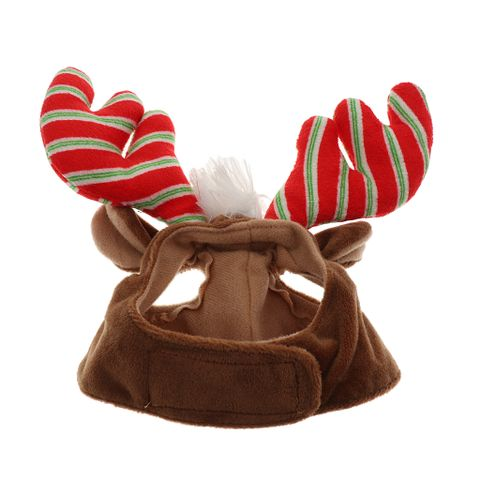 Adjustable Pet Dog Puppy Cat Antlers Hat Christmas Hat for Pets Winter Party Clothes Xmas Costume Dress Up Size S