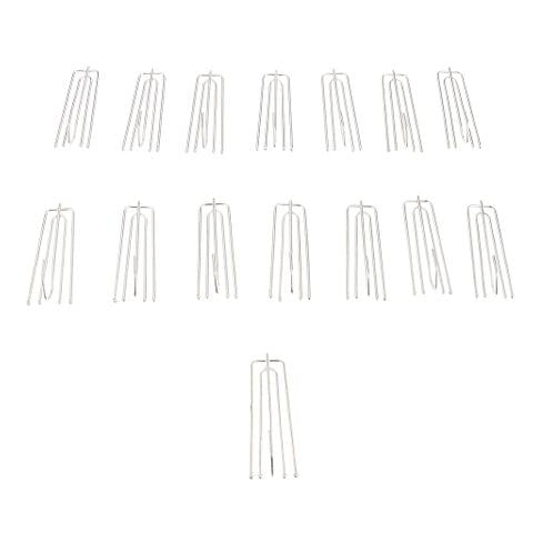 150 Pieces Curtain Drapery Pinch Pleat Hook Ring Hanger DIY Window Curtain Accessories Silver