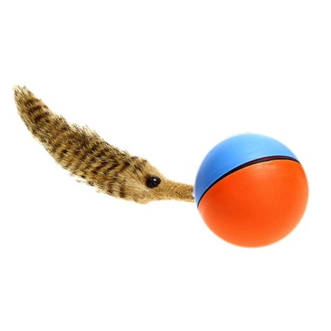 Fun Weasel Chases Jumping Rolling Motor Ball Toy for Pets Dog Cats Children