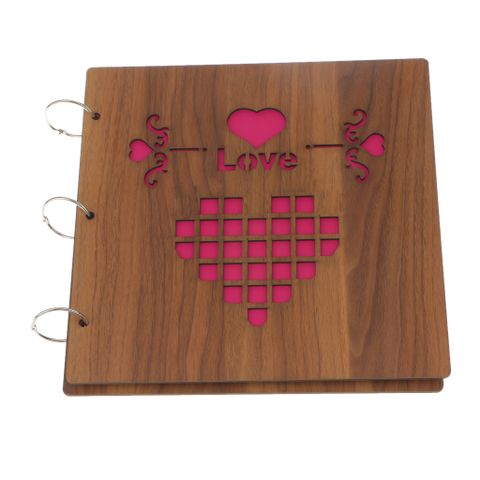 Love Wall Diy Photo Album Wood Album Anniversary Scrapbook Picture for Gift