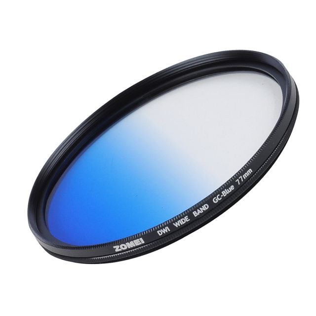 77mm Slim Graduated Color Camera Lens Filter For Canon Sony Camera Blue
