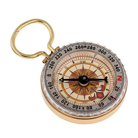 Handheld Direction Instrument Compass for Outdoor Navigation with Key Ring