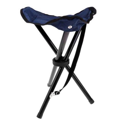 Folding Tripod Camping Stool Lightweight Portable Heavy Duty Folding Slacker Chair Outdoor Mountaineering