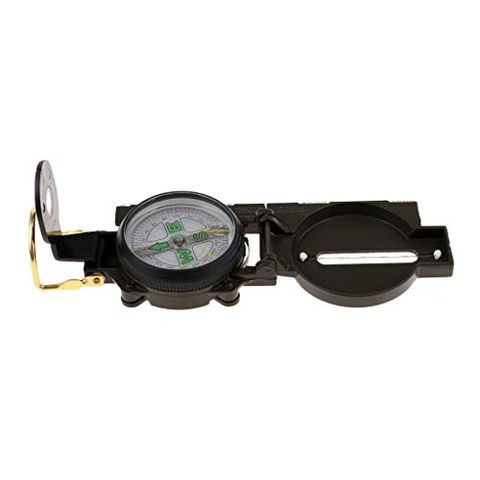 Waterproof Multifunctional Molle Aluminum Alloy Compass with Inclinometer for Camping Hiking Hunting