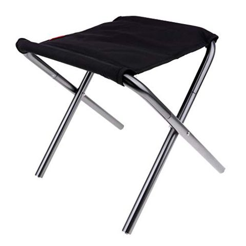 Aluminum Portable Folding Stool Camping Fishing Chair 32x33x30cm with Storage Bag Outdoors Backpacking