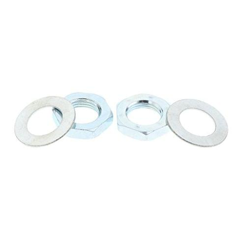 4pcs Set Roller Skate Toe Stop Lock Nuts & Washers 21mm Outer Diameter