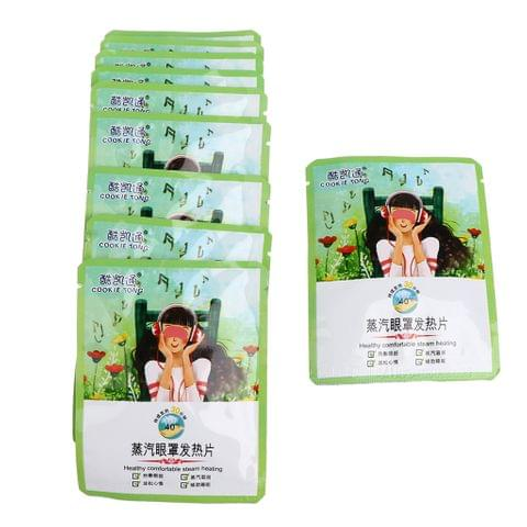 10 Sheets Gentle Hot Warm Eye Steam Patches Sleeping Dry Eye Fatigue Tension Tiredness Dark Circles Relief Disposable Masks for Women