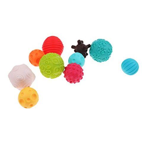 Kids Textured Sensory Multi Ball Set Baby Child Bright Balls Teething Toys
