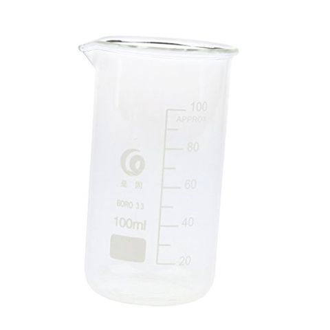 Laboratory Beaker Borosilicate Measuring Cup Beaker + Single Scale 100mL