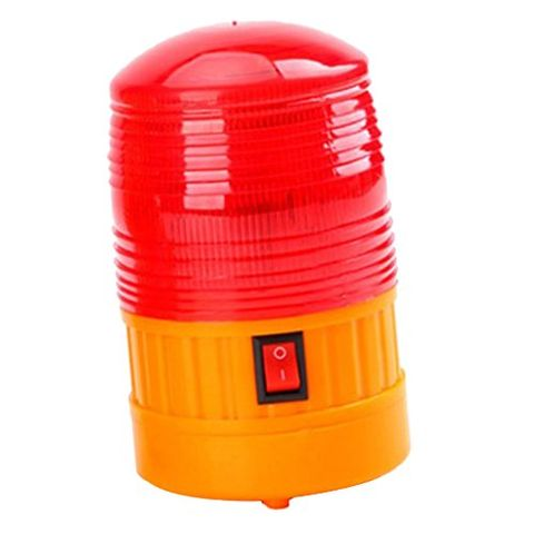 Battery Law Enforcement Beacon Hazard Warning Flashing Strobe Light -Red