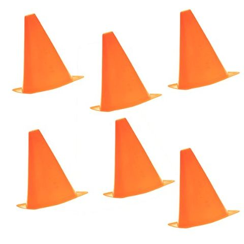 7.8 inch Safety Agility Cone for Sports Fitness Football Soccer Beginners Athletics Field Practice Speed Training Cone Pack of 6PCS Orange