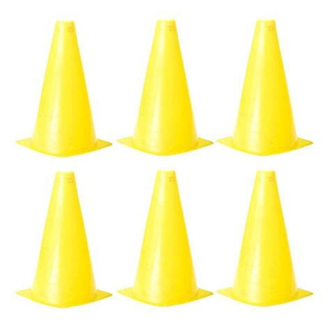 7.8 inch Safety Agility Cone for Sports Fitness Football Soccer Beginners Athletics Field Practice Speed Training Cone Pack of 6PCS Yellow