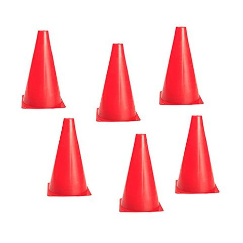7.8 inch Safety Agility Cone for Sports Fitness Football Soccer Beginners Field Practice Speed Training Cone Pack of 6PCS Red