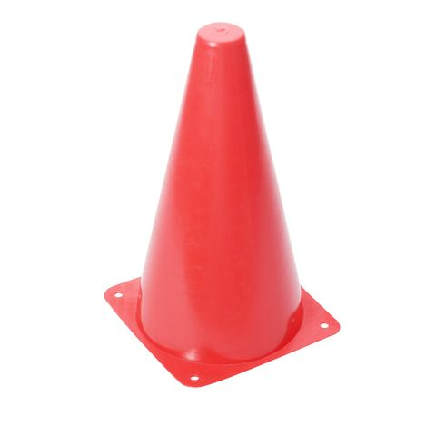 Magicdeal 9 inch Safety Agility Cone for Sports Fitness Football Soccer Beginners Athletics Field Practice Speed Training Cone Red