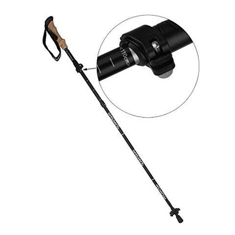 Generic Black Trekking Walking Hiking Sticks Poles Alpenstock Adjustable - Short