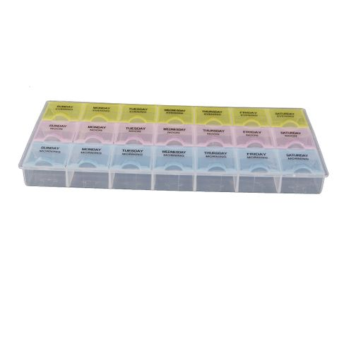 Plastic Weekly Tablet Pill Box Holder Medicine Storage Case Container