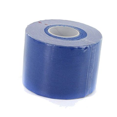 Roll of Hypoallergenic Low Moisture Absorption Kinesiology Sport Tape Athletes Muscle Care Blue 5M