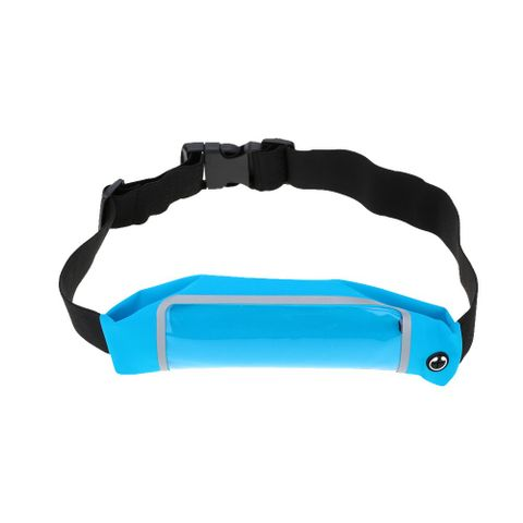 Sport Zipper Waist Bag Running Jogging Belt Pouch Blue