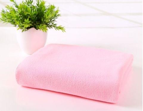 Microfiber Quick Dry Towel Bath Travel Beach Towel - Light Pink