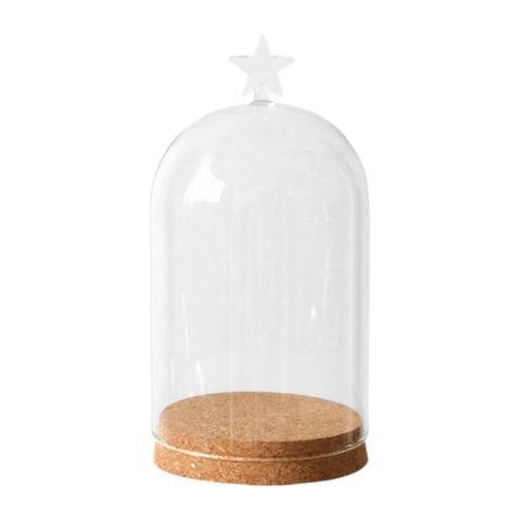 7'' Decorative Clear Glass Apothecary Cloche Bell Jar / Plant Terrarium / Desktop Centerpiece Dome Display Mum Day Favor