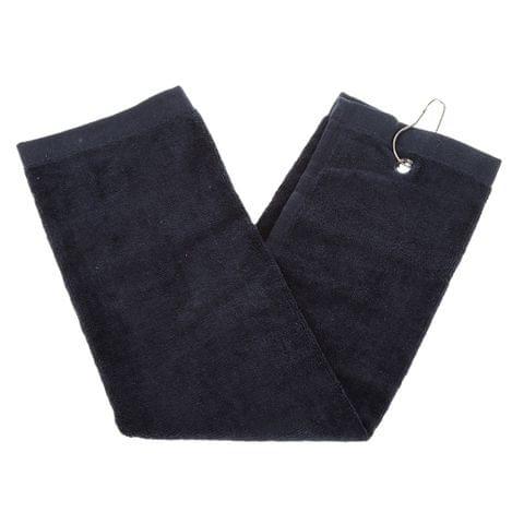 Cotton Golf Gym Sports Fitness Towel & Hook Hanger 43x60 cm Blue