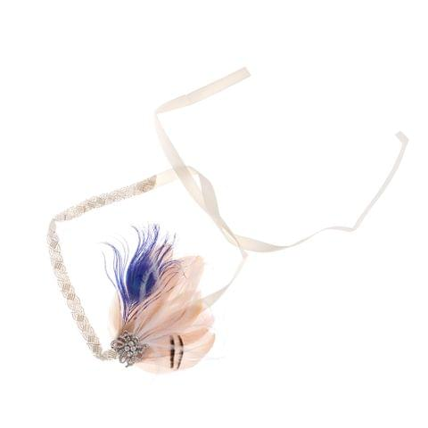 Lady Girls Wedding Feather Headband Flapper Fancy Dress Hairband Headpiece