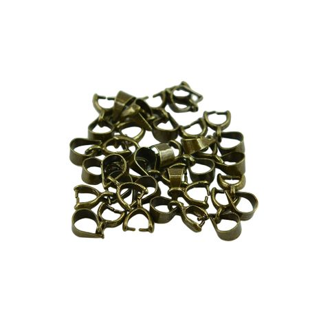 20 Pieces Necklace Pinch Bails Jewelry Connector Findings DIY Necklace Pendant Connector Making Crafts