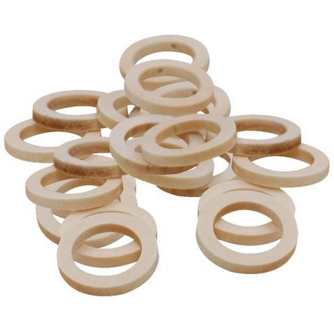 50pcs 30mm Wooden Teether Baby Teething Ring Baby Nursing Necklace DIY Craft