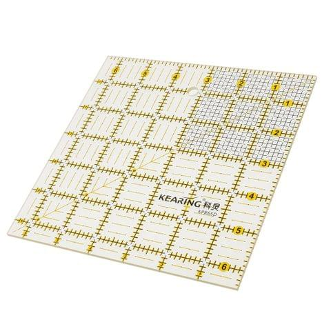 Square Shape Grid Acrylic Sewing Quilting Ruler Templates Tool for Patchwork Crafts 16.5x16.5cm