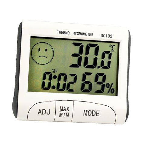 Digital LCD Humidity Hygrometer Temperature Thermometer Indoor Time Display