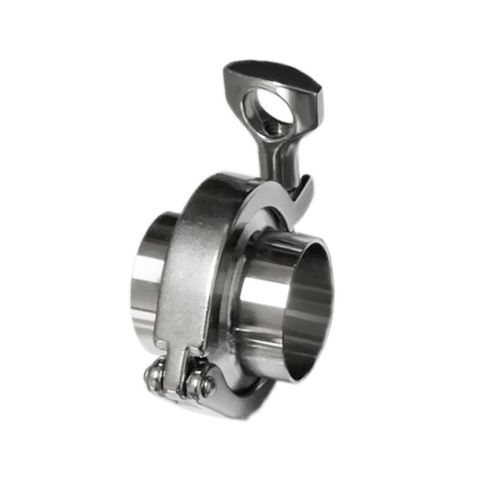 SS304 1-3/4'' OD 2×Sanitary Pipe Weld Ferrule 1×Tri Clamp 1× PTFE Gasket Set