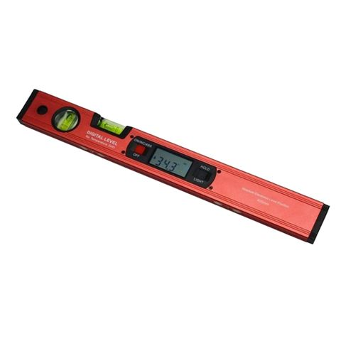 Digital Level Inclinometer Angle Finder Spirit Level W/ Magnetic Base Red